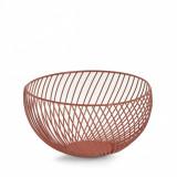 Cumpara ieftin Fructiera Bowl Metal Caramiziu, Ø26,5xH13,5 cm