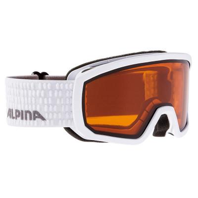 Ochelari Alpina Scarabeo JR DH white/white dots foto