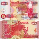 ZAMBIA 50 kwacha 1992 UNC!!!