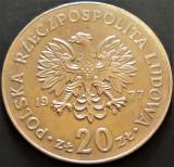 Moneda 20 ZLOTI - POLONIA, anul 1977   *cod 532 - Marceli Nowotko