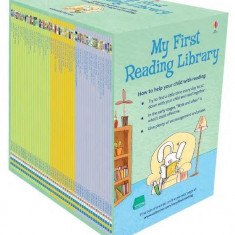 My First Reading Library - x50 book boxed set - Usborne book (3+)
