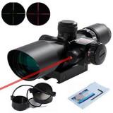 Luneta profesionala cu laser rosu ACM si reticul iluminat 2.5-10*40E, Rohs