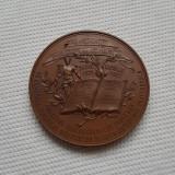 Medalie 1901 Profesor Th. Stefanescu - Scoala de comert - per. regalista