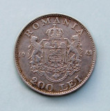 ROMANIA  -  200 Lei 1942  -  Mihai I  -  Argint 6 g