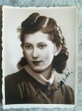 Foto  LUIZA IARCINSCHI anii 30-40 Opera Romana Bucuresti semnatura 8,5 x 6,5 cm