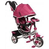 Tricicleta multifunctionala cu sunete si lumini Lux Trike pink