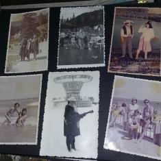 Album foto/fotografii vechi alb/negru si semicolor,album fotografii vechi,T.GRAT