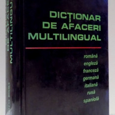 DICTIONAR DE AFACERI MULTILINGUAL , 1996