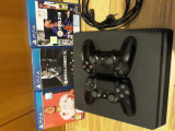 PS4 slim, două manete, fifa21, fifa20 și Mortal Kombat, Playstation