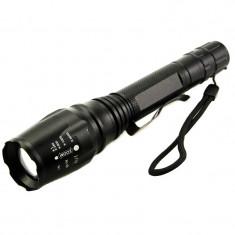 Lanterna cu zoom Police CREE Q688-T6, 2 x acumulator, 3 faze iluminare