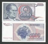 IUGOSLAVIA  5.000 5000  DINARI  DINARA  1985  UNC  [1] P - 93 a   ,  necirculata