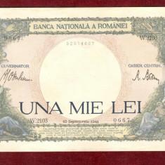 Bancnota UNA MIE LEI - 1.000 Lei  1941 - 1000 Lei - Serie W