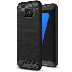 Husa SAMSUNG Galaxy S7 Edge - Carbon (Negru) Forcell