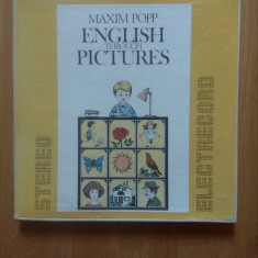 Maxim Popp - English Through Pictures (caseta 5 discuri LP). Stare foarte buna.