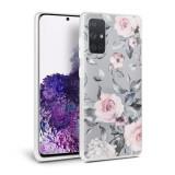 Cumpara ieftin Husa Samsung Galaxy A51 TechProtect Floral Case Gri