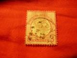 Timbru 3 kr. Germania 1872 scut mare , stamp., defect si subtiat, Stampilat