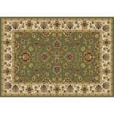 Covor 100x150 cm, verde amestec de culori model oriental, KENDRA TIP 2