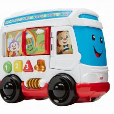 Jucarie interactiva - Autobuzul cu sunete in limba romana - Fisher Price Laugh&Learn
