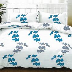 Lenjerie de pat pentru o persoana cu husa de perna dreptunghiulara, Sunday, bumbac mercerizat, multicolor
