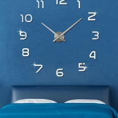 Ceas de perete 3D argintiu / auriu DIY