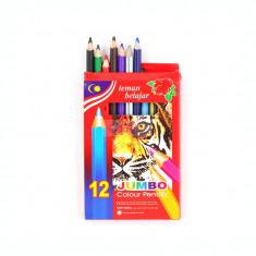 Creioane colorate 12 culori jumbo 9508-12
