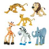 Figurine plastic Jungle, 6 bucati, animale din jungla, Oem