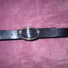 Curea piele naturala C&A, neagra (lg 110 cm), 110cm, Negru