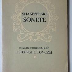 Sonete - Shakespeare  traducere -  Gh. Tomozei    ilustratii - D. Verdes