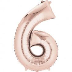 Balon Folie Mare Cifra 6 Rose Gold - 91 cm, Amscan 36217