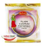 "Schani Papad Madras Plain 6"" (Snacks India din Linte zona Madras) 200g"