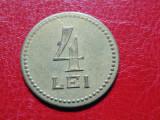 JETON 4 LEI CERCUL MILITAR BUCURESTI PERIOADA INTERBELICA 1