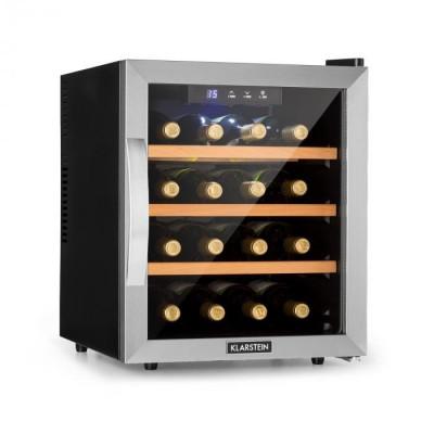 Klarstein Reserva 16, frigider de vin, 16 fl/48 l, afișaj Touch LED, negru foto