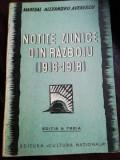 AL. AVERESCU - NOTITE ZILNICE DIN RAZBOIU 1916-1918