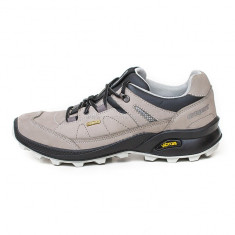 Pantofi Bărbați Trekking Piele impermeabili Grisport Tania Borealis Gritex Vibram, 39 - 44, Gri