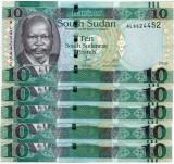 SUDANUL DE SUD 10 pounds 2015 - UNC