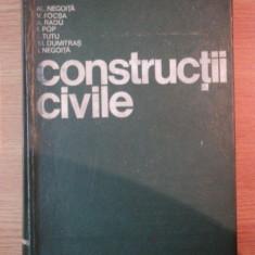 CONSTRUCTII CIVILE de AL. NEGOITA ... M. DUMITRAS , I. NEGOITA , 1976