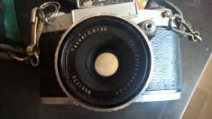 Aparat foto film 35mm Exa 1a + obiectiv Carl Zeiss Tessar 2.8/50 foto