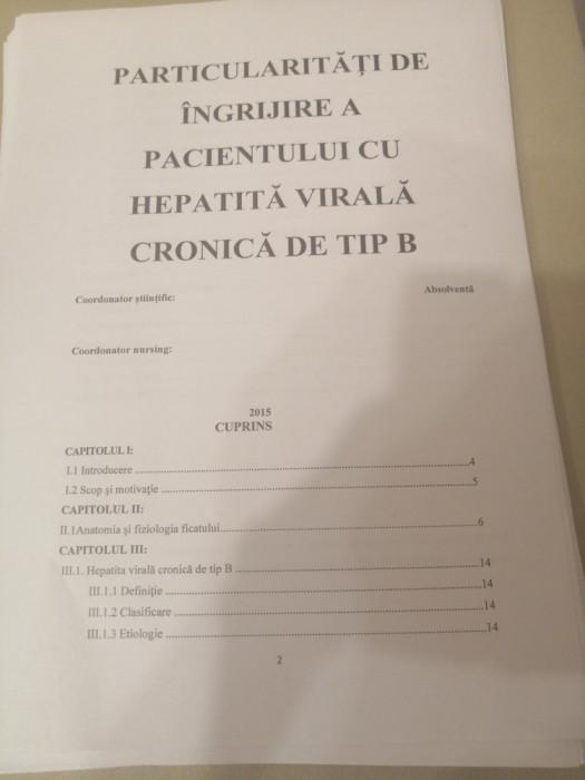 Lucrări licență postliceala sanitar