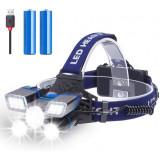 Lanterna Frontala Reincarcabila cu 21 LED ,Premium Impermeabila IPX4