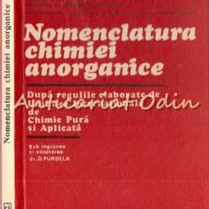 Nomenclatura Chimiei Anorganice - Tiraj: 4250 Exemplare