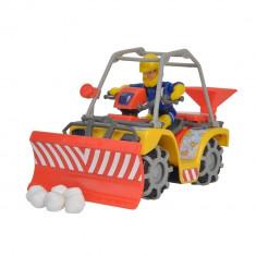 Figurina Pompierul Sam si ATV pentru dezapezit