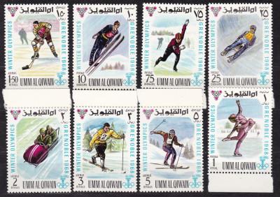Umm al  Qiwain  1968  sport  olimpiada   MI  233-240   MNH  w59 foto