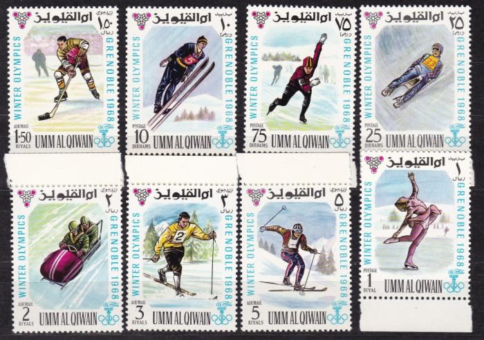 Umm al  Qiwain  1968  sport  olimpiada   MI  233-240   MNH  w59