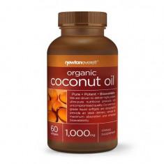 Ulei de cocos organic, 1000 mg, 60 Capsule, NewtonEverett