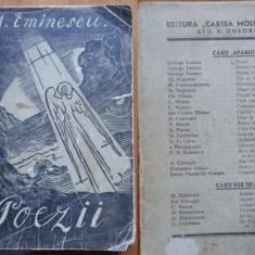 Mihai Eminescu , Poezii , 1943 , editia Scorpan , ilustr. de Kiriacoff Suruceanu