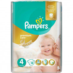 Scutece Pampers Premium Care 4 Maxi Small Pack, 18 bucati