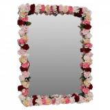 Oglinda miresei, lucrata cu flori de matase, FEIS1650