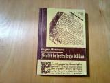 STUDII DE LEXICOLOGIE BIBLICA -  Eugen Munteanu -  1995, 373 p.