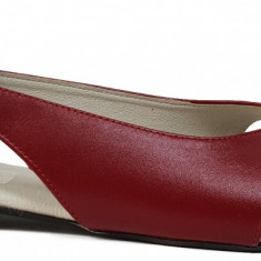 Balerini de dama decupati din piele rosii Ninna Art 145R