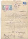 A1137 Contract vanzare Oradea 1932 timbre fiscale